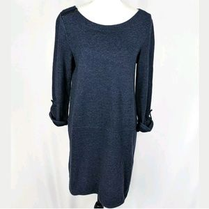 Ann Taylor LOFT Knit Tunic Dress Zipper Shoulder